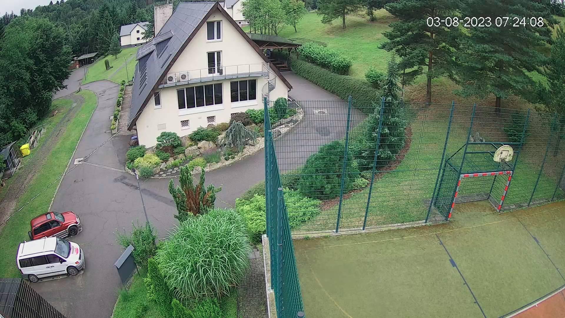 Webkamera z prijezdu do arealu